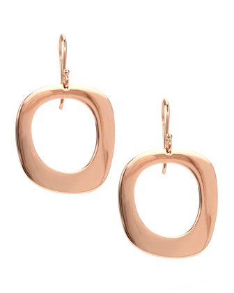 Rose Lite Links Square Drop Earrings