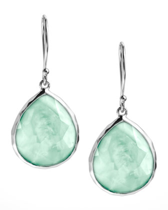 Mini Teardrop Earrings, Aqua