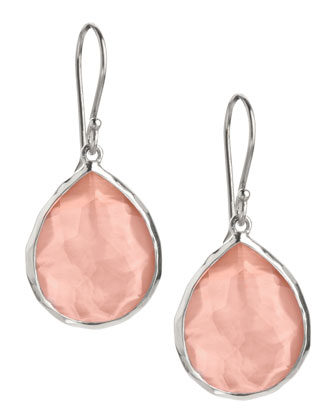 Mini Teardrop Earrings, Blush