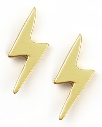Gold Lightning Earrings