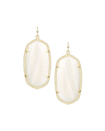 Danielle Earrings, Natural White Mother-of-Pearl