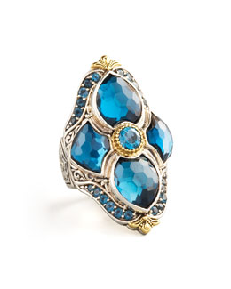 Konstantino London Blue Topaz Figure-8 Ring