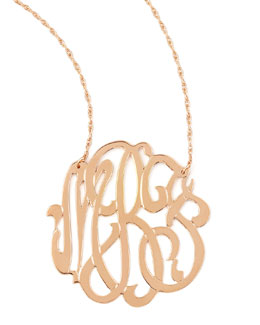 Jennifer Zeuner Rose Gold Initial Necklace