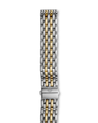 Two-Tone Diamond Deco Watch Head & 16mm Deco Bracelet Strap