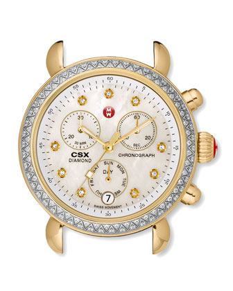 CSX 36 Diamond-Bezel Watch Head, Two-Tone