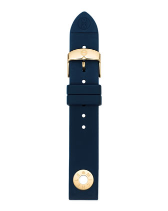 18mm Silicone Strap, Navy