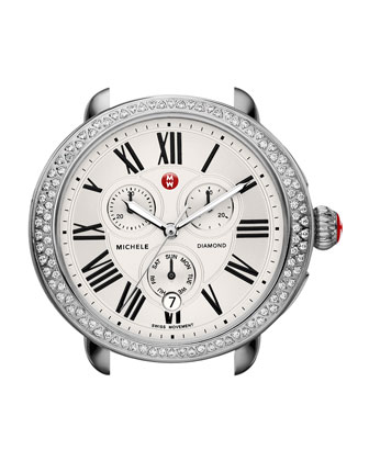 Serein Diamond Watch Head, Silver