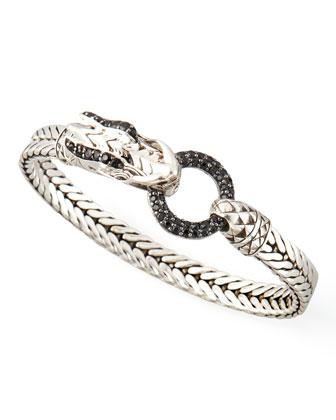 Naga Head Bracelet, Black Sapphire