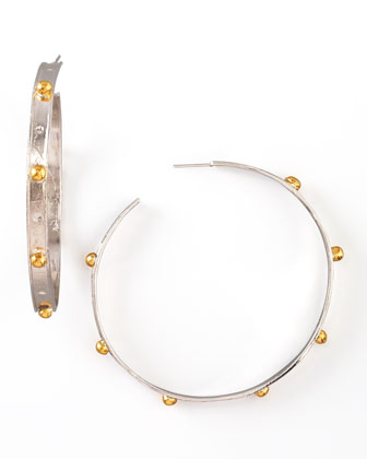 Mixed-Metal Hoop Earrings
