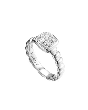 Petite Pave Ring, Diamond