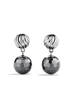 David Yurman DY Elements Earrings, Hematite, 12mm