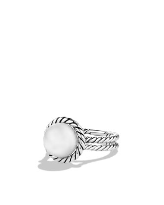 Cable Pearl Ring