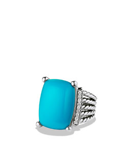 David Yurman Wheaton Ring, Turquoise, 20x15mm
