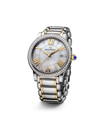 The Classic� Timepiece, Steel & 18k Gold, 38mm