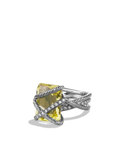 David Yurman Cable Wrap Ring, Lemon Citrine, 16x12mm