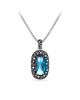 David Yurman Moonlight Ice® Pendant, Blue Topaz