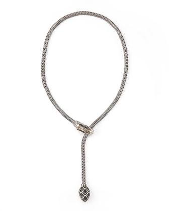 Black Sapphire Dragon Necklace