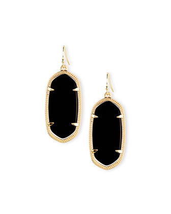 Elle Earrings, Black Onyx