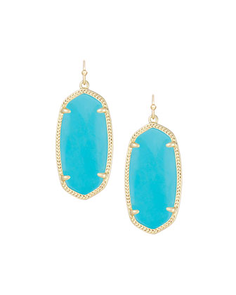 Elle Earrings, Turquoise