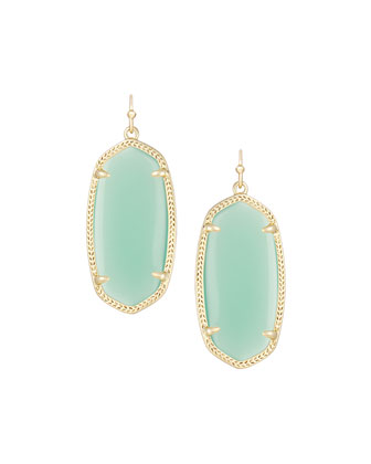 Elle Earrings, Chalcedony