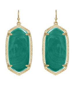 Kendra Scott Elle Earrings, Green Agate