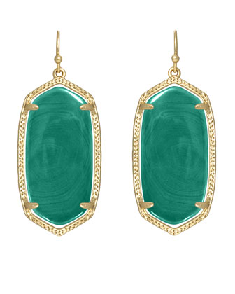 Elle Earrings, Green Onyx