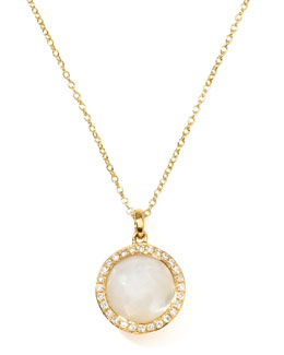 Ippolita Rock Candy 18k Gold Mini Lollipop Diamond Necklace, Mother-of-Pearl