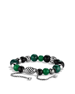 David Yurman Spiritual Bead Bracelet, Green Onyx