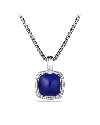 Albion Pendant with Lapis Lazuli and Diamonds