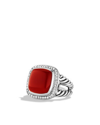 Albion Ring with Carnelian and Diamonds