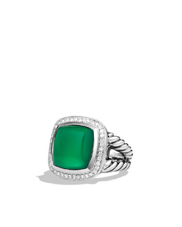 David Yurman Albion® Ring, Green Onyx, 14mm