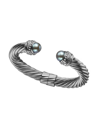 Crossover� Bracelet with Pearls and Diamonds