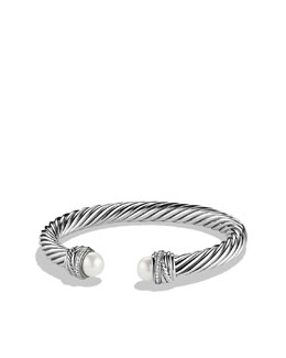 David Yurman Pearl Crossover Bracelet, 7mm