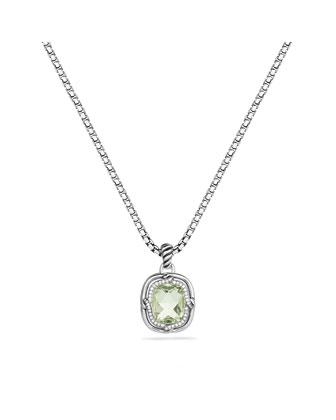 Labyrinth Small Pendant with Prasiolite and Diamonds