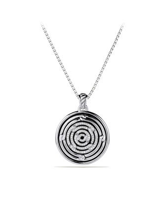 Labyrinth Large Disc Pendant with Diamonds