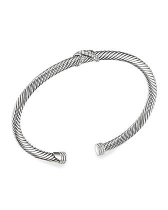 X Bracelet with Diamonds
