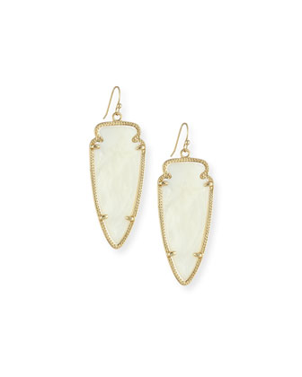 Skylar Arrow Earrings, Mother-of-Pearl