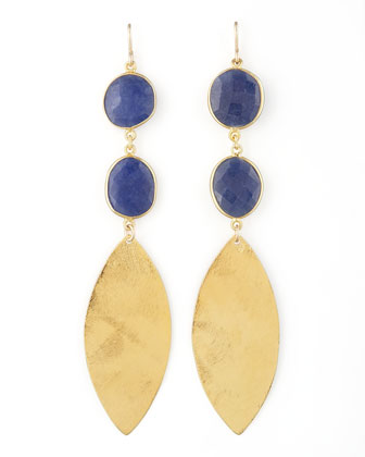 Lapis Quartz Drop Earrings