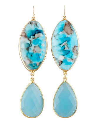 Turquoise Double-Drop Earrings
