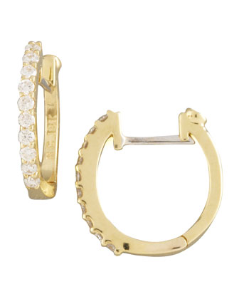 Pave Diamond Horseshoe Earrings