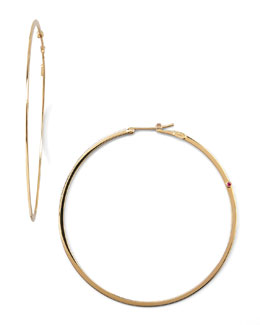 Roberto Coin Yellow Gold Hoop Earrings