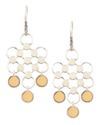 Gold-Drop Dot Earrings