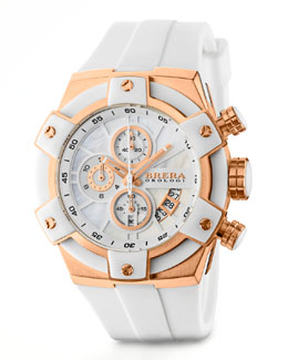 Brera 43mm Federica, Rose Gold and White