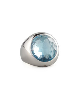 Monica Rich Kosann Blue Topaz Cocktail Ring