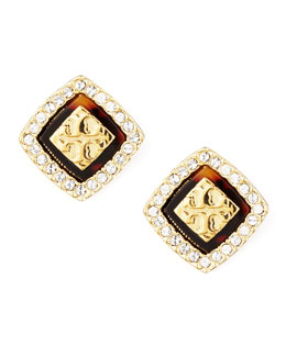 Tory Burch McCoy Logo Post Earrings