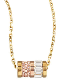 Michael Kors  Barrel Pendant Necklace, Golden