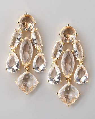 crystal statement earrings, clear