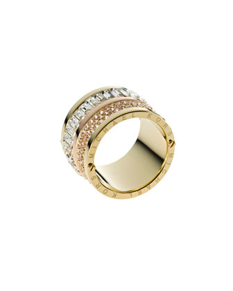 Multi-Stone Barrel Ring, Golden