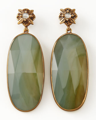 Elongated Agate Drop Earrings