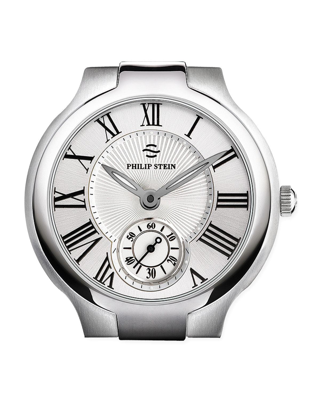 20mm Large Round Watch Head, Steel   Philip Stein   Silver (20mm ,LARGE )